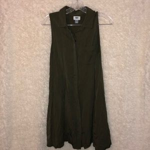 Old Navy Sleeveless Button-Up T-Shirt Dress